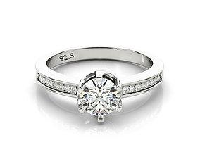 3D print model ring cad diamond band engagement ring