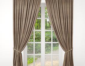 3D model drapery Curtain
