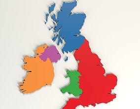 3D asset United Kingdom map