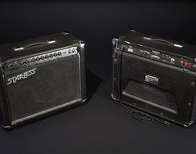 3D model Electric guitar combo