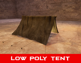 realtime horror Medieval Tent - Low Poly 3D Model