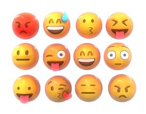 Emoji Smile Pack 3D model