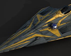 Star Wars Jedi Starfighter - Anakin Skywalker 3D asset