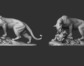 Panther Sculpture 3D print model