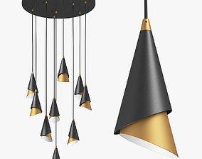 757090 Cone Lightstar Chandelier 3D model