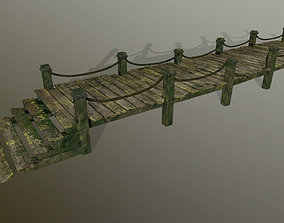 3D asset wooden pier