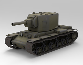 Low Poly Soviet KV-4 Tank 3D model
