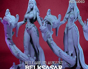 Blood Mage Vampiress Normal and Nude 3D print model