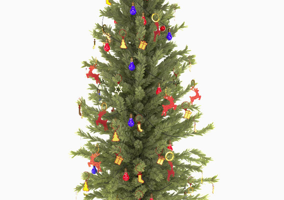 Decorated Christmas Tree 3D model