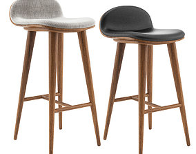 Article Sede Barstool and Barcounter 3D model