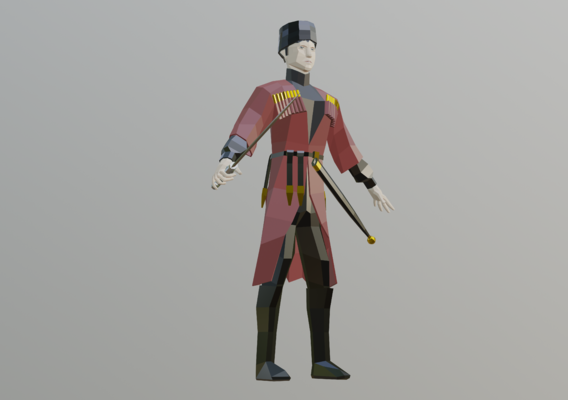 Low Poly Adige Character