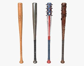 Baseball Bats Assets 01 game-ready