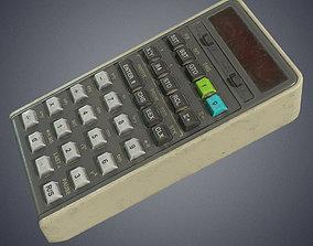 3D model game-ready Calculator retro