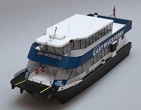 3D model New York East River Ferry Boat