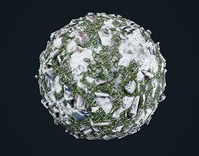 Snow Ice Ground Seamless PBR Texture 23 3D