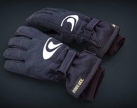 Ski gloves 2 3D model game-ready