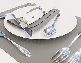 dining 3D Dinnerware Set spoons folk and knives