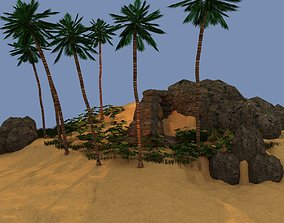 Dream Small tropical Island 3D model