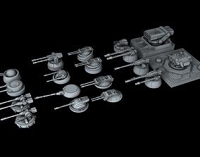 3D Ship Gun Pack