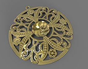 3D print model Round Ornament Pendant