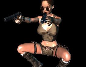 3D model Lara Croft in action