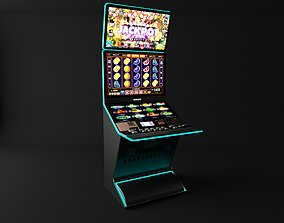 casino slot machine 3D model gambling