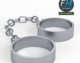 3D model Ankle shackles