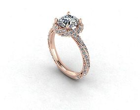 Twisted Gold And Diamonds Engagement Ring 3D print model