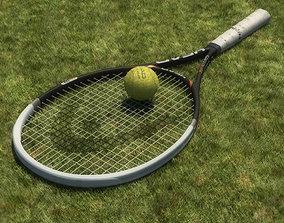 Tennis Racket 3D model game-ready PBR