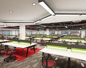 Public Office Area Interior 2 3D