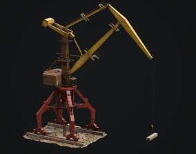 3D asset Port crane Sokol