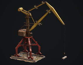 Port crane Sokol 3D asset