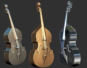 contrabass double bass 3d model