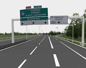 exterior-public viaduct highway navigation 3D road