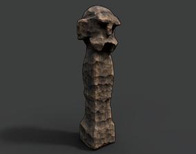 3D model High Slavic Wooden Medieval Settlement Totem