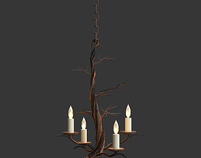 Currey Company Lighting Treetop Chandelier Small 3D model