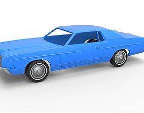 Diecast shell and wheels LTD 1971 3D printable model 3