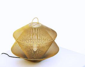Woven Wicker Table Lamp or Pendant 3D model