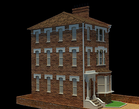 3D London street house 10m x 20m Block