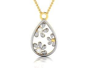 Women pendant 3dm render brilliant pendant-necklace
