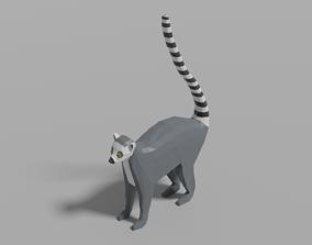 Cartoon Lemur 3D asset