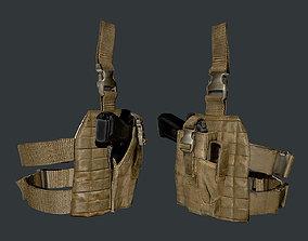 3D asset Military Police Gun Holster Game Ready 01