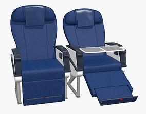 Airplane chair business class 3D asset