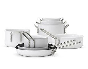 3D model Eva Solo Trio cookware set