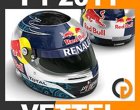 Helmet F1 2011 Sebastian Vettel 3D