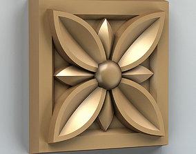 Square rosette 002 3D model