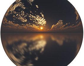 4k HDR Sunset Orange Sky 3D model