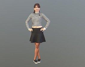 No144 - Female Smiling 3D model