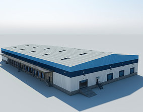 3D Warehouse Logistic Building 2 LOW POLY interior and