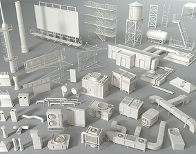 3D model Rooftop Collection - 1 - 43 pieces cityscape
